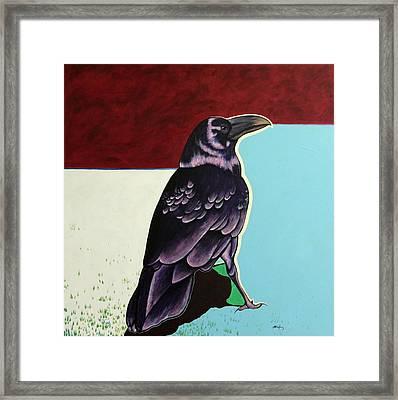 The Gossip - Raven Framed Print by Joe  Triano