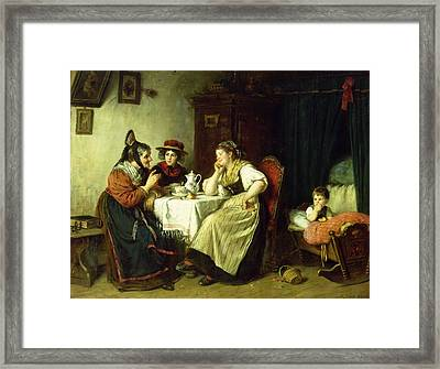 The Gossips, 1887 Oil On Canvas Framed Print