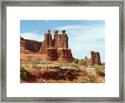 The Gossips Framed Print by Susan Rolle
