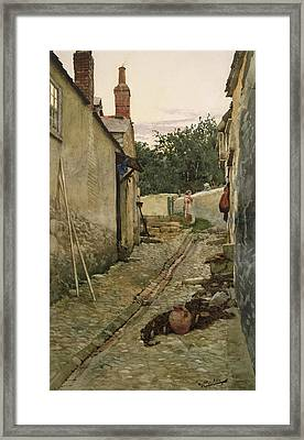 The Gossips Framed Print by Walter Langley
