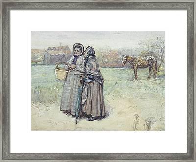 The Gossips  Framed Print by George John Pinwell