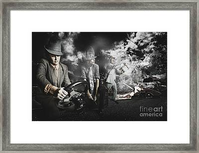 The Gotaway Car Framed Print