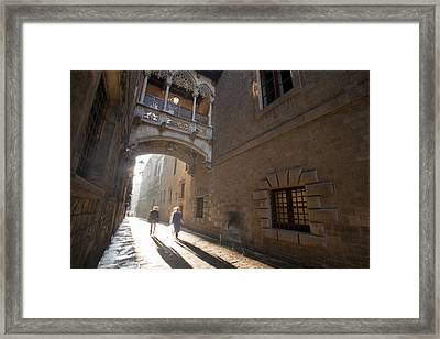 The Gothic Barcelona Framed Print by Javier Fores