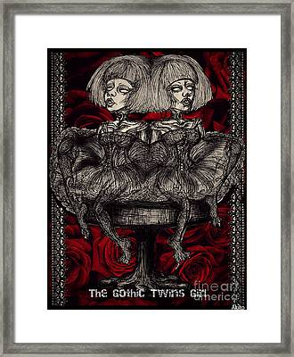 The Gothic Twin Girls Framed Print