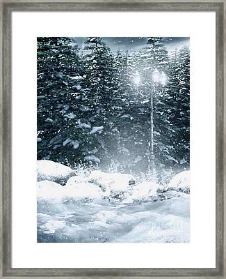 The Gothic Winter Framed Print by Boon Mee