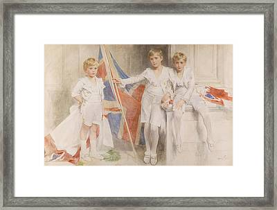 The Gow Brothers, 1914 Framed Print by Mary L. Gow