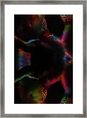 The Grabing Hands Oil Framed Print by Steve K