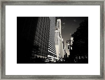 The Grace Building And The Chrysler Building - New York City Framed Print by Vivienne Gucwa