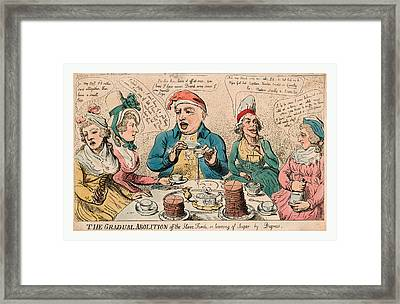 The Gradual Abolition Off The Slave Trade Or Leaving Framed Print by Litz Collection