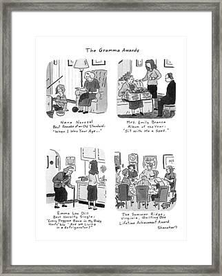 The Gramma Awards Framed Print by Danny Shanahan