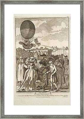 The Grand Air Balloon Framed Print by British Library