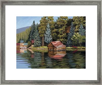The Grand Boathouse II Framed Print
