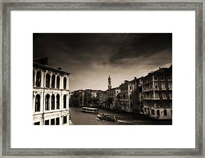 The Grand Canal Framed Print by Aaron Bedell