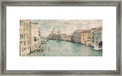 The Grand Canal From The Accademia Bridge Venice Framed Print by Paul Bucknall