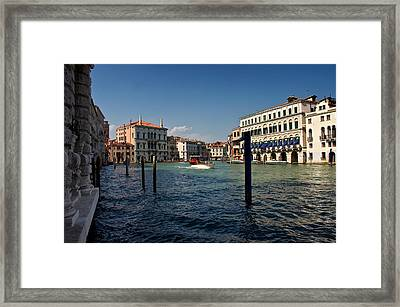 Framed Print featuring the photograph The Grand Canal by Stephen Taylor