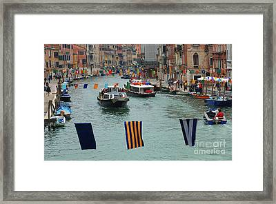The Grand Canal Venice Framed Print by Bob Christopher