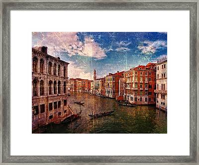 The Grand Canal Venice Italy Framed Print by Suzanne Powers
