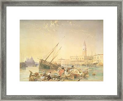 The Grand Canal, Venice Framed Print by James Duffield Harding