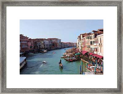 The Grand Canal Venice Oil Effect Framed Print by Tom Prendergast
