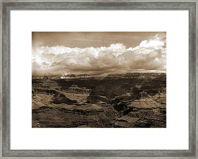 The Grand Canon In Arizona Across From Bright Angel Hotel Framed Print