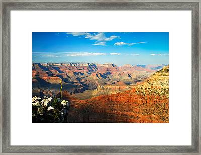 The Grand Canyon At Sunset Framed Print by Gregory Ballos