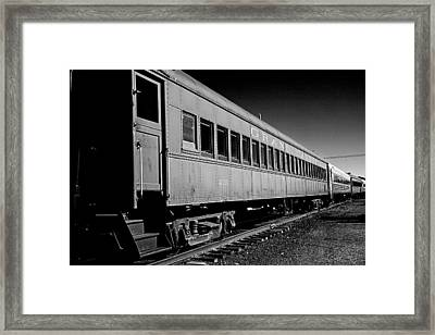 The Grand Canyon Express 1 Black And White Framed Print