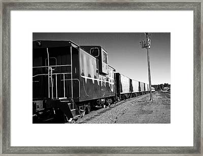 Framed Print featuring the photograph The Grand Canyon Express 2 Black And White by James Sage