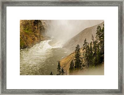 Framed Print featuring the photograph The Grand Canyon Of Yellowstone by Yeates Photography