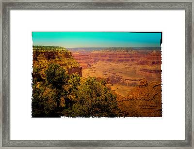 The Grand Canyon Vintage Americana Vii Framed Print by David Patterson
