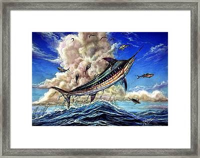 The Grand Challenge  Marlin Framed Print by Terry Fox