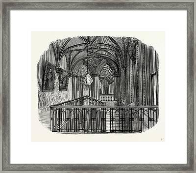 The Grand Corridor, Or Ball Room, Belvoir Castle Framed Print