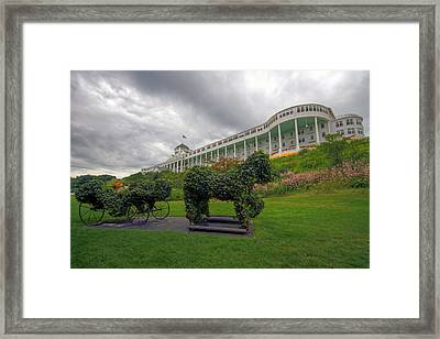 The Grand Hotel Mackinac Island Framed Print by Jerry Gammon