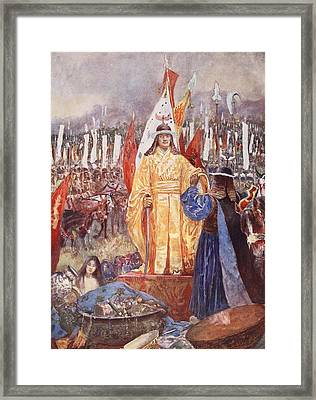 The Grand Marshal Proclaimed Emperor Framed Print by H. Sepping Wright