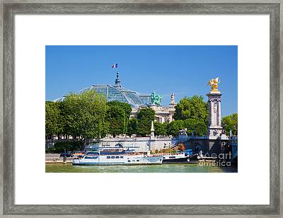 The Grand Palais And The Alexandre Bridge Paris Framed Print