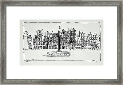 The Grand Place, Lille, France Framed Print
