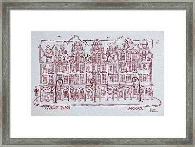 The Grand Place Town Square, Artois Framed Print
