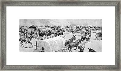 The Grand Rush At Noon Of 16th September Looking East Along The South Line Of Indian School Framed Print by V. Perard