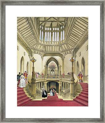 The Grand Staircase, Windsor Castle Framed Print by English School