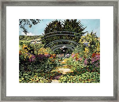 The Grande Alle Monet's Garden Framed Print by David Lloyd Glover