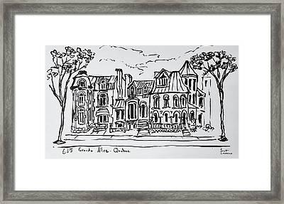 The Grande Allee, Quebec City, Quebec Framed Print