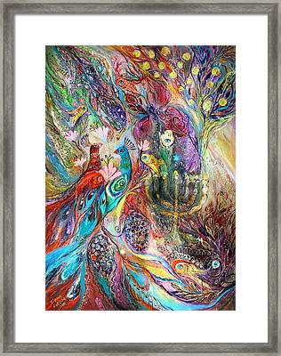 The Grapes And Menorah Framed Print by Elena Kotliarker