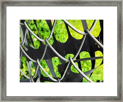 The Grass Is Always Greener On The Other Side - Abstract Framed Print