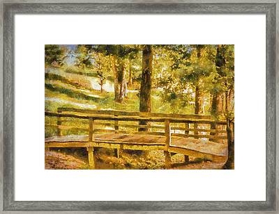 The Grass Is Greener Framed Print by Barry Jones