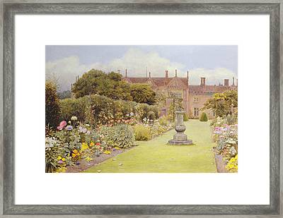The Grass Walk, Helmingham Hall, 1892 Framed Print by Henry Terry