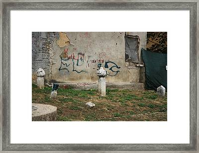 The Grave City Framed Print by Frederic Vigne