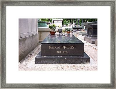 The Grave Of Marcel Proust In Paris France Framed Print