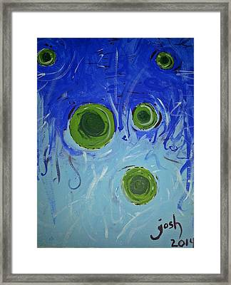 The Gravity Of This Or That Framed Print by Yshua The Painter
