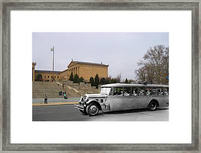 The Gray Line Framed Print