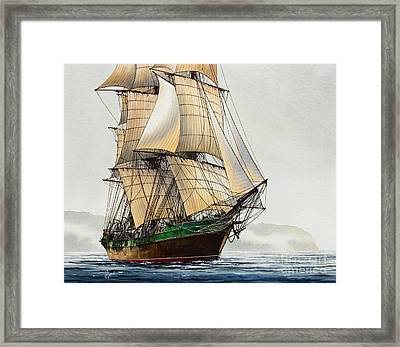 The Great Age Of Sail Framed Print by James Williamson