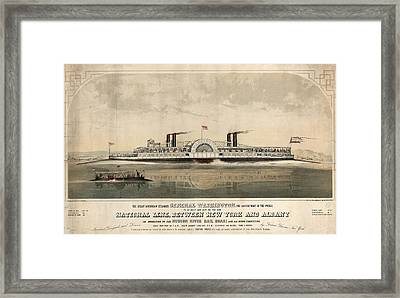 The Great American Steamer, General Washington Framed Print by Litz Collection